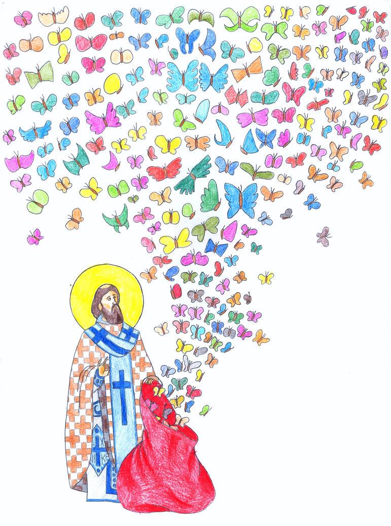 Butterflies of St. Sava by Parastos