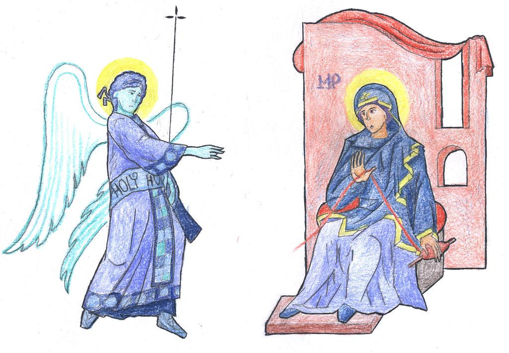 Luke 1:26-30 (Annunciation) by Parastos