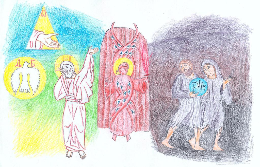 Genesis 3:20-24 (Expulsion from Paradise) by Parastos