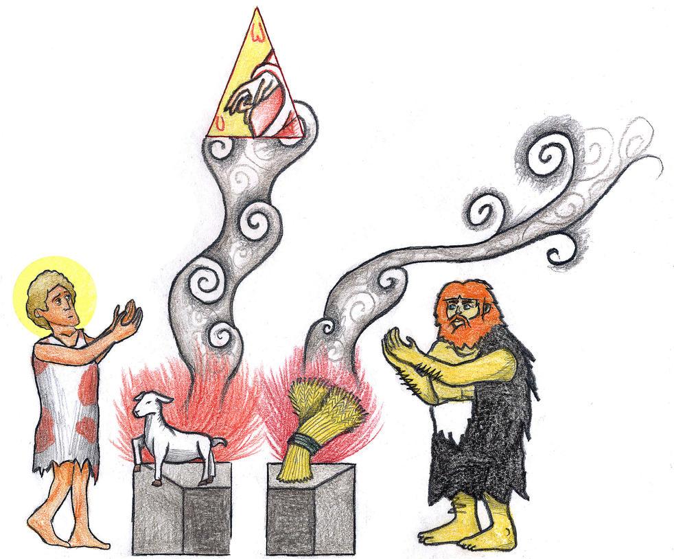 genesis 4 3 5 sacrifice of abel and cain by parastos on deviantart