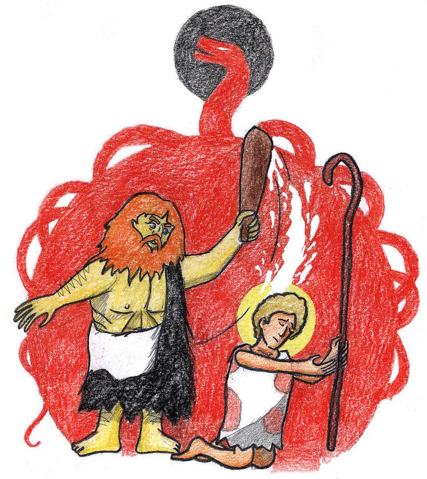 Genesis 4:8 (Murder of Abel) by Parastos
