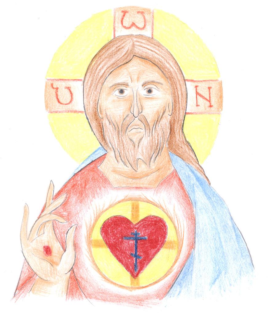 Sacred Heart of Jesus by Parastos