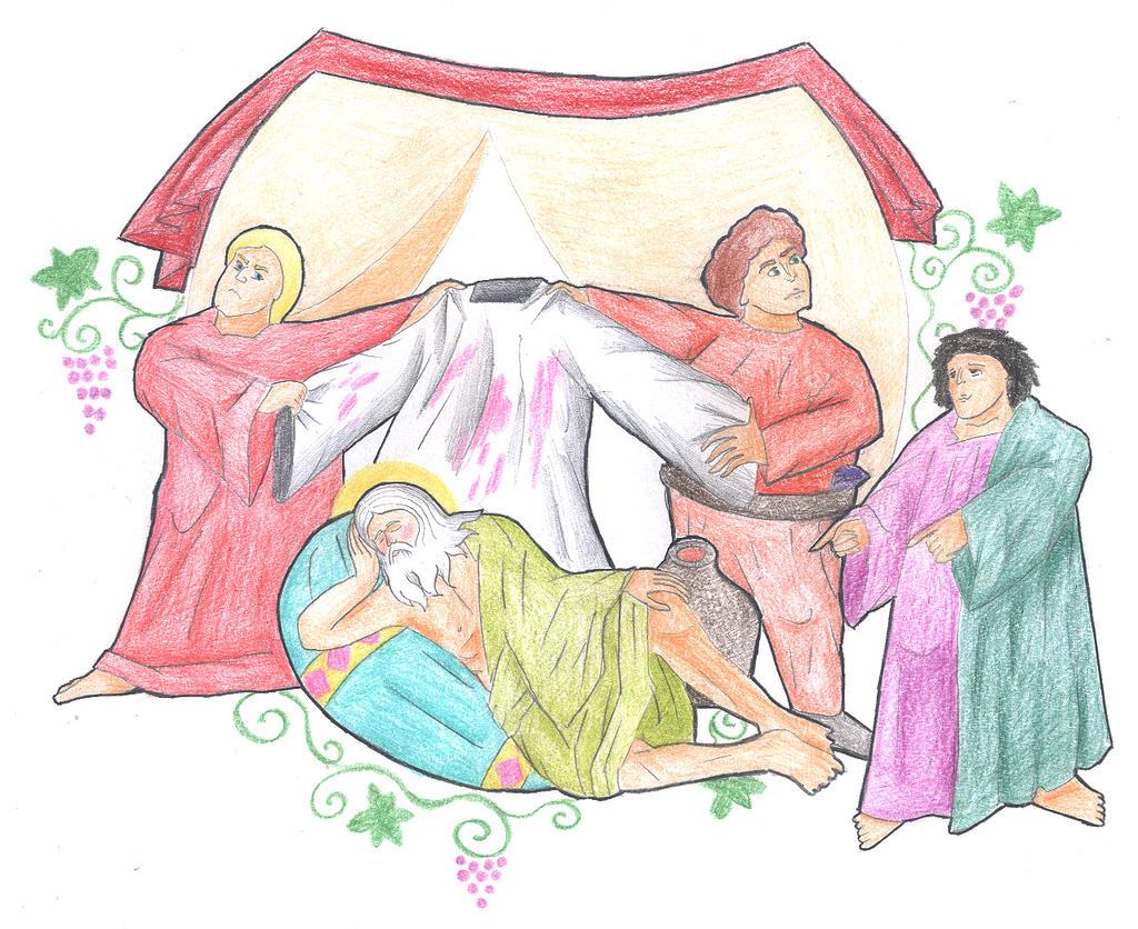 Genesis 9:20-23 (Drunkenness of Noah) by Parastos
