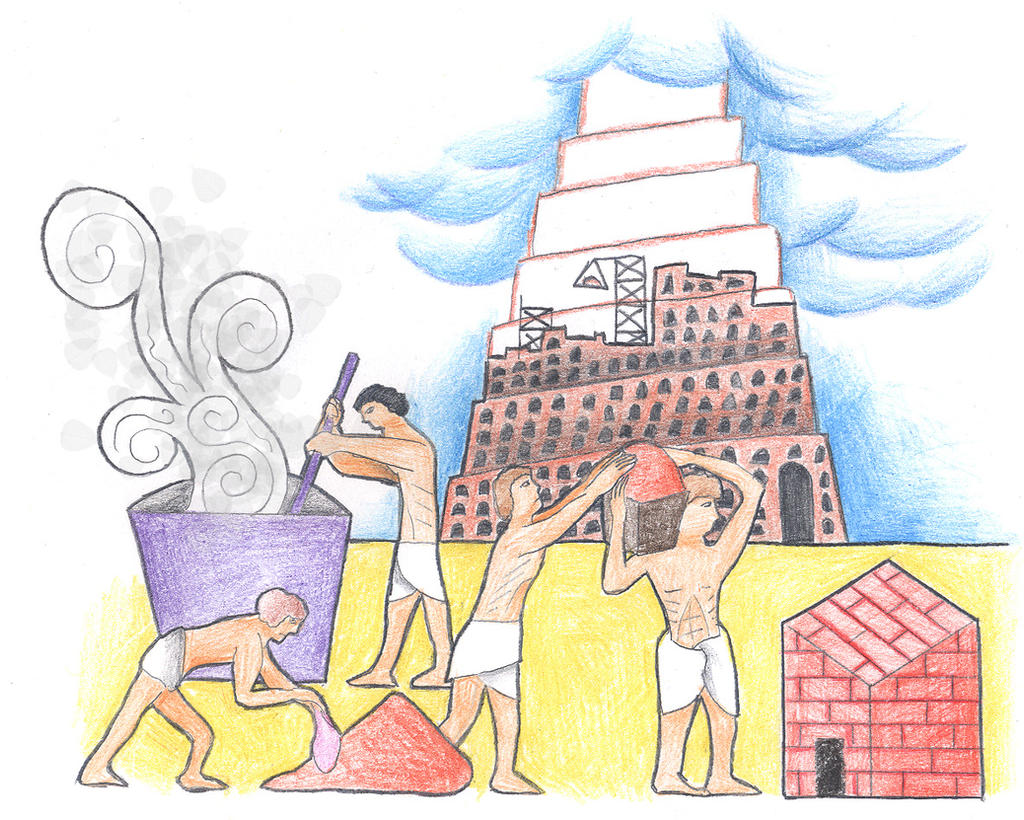 Genesis 11:2-3 (The Tower of Babel) by Parastos