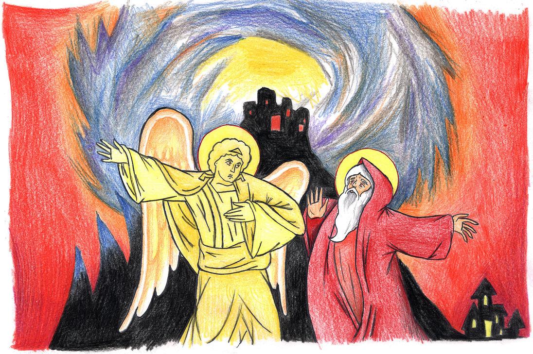 Genesis 19:17-22 (Lots  Flees Sodom) by Parastos
