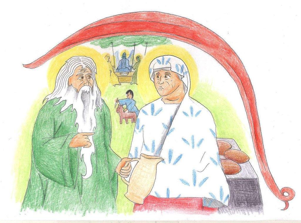 Genesis 18:6-7 (Hospitality of Abraham) by Parastos
