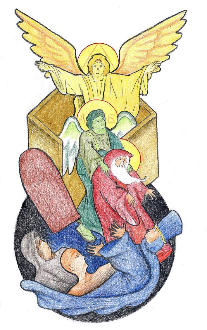 Genesis 19:9-11 (Angels Blind Sodomites) by Parastos