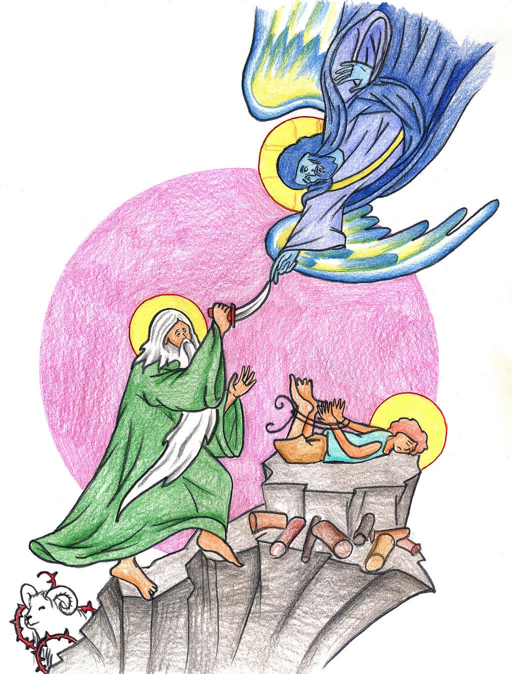 Genesis 22:9-14 (Abraham's Sacrifice) by Parastos