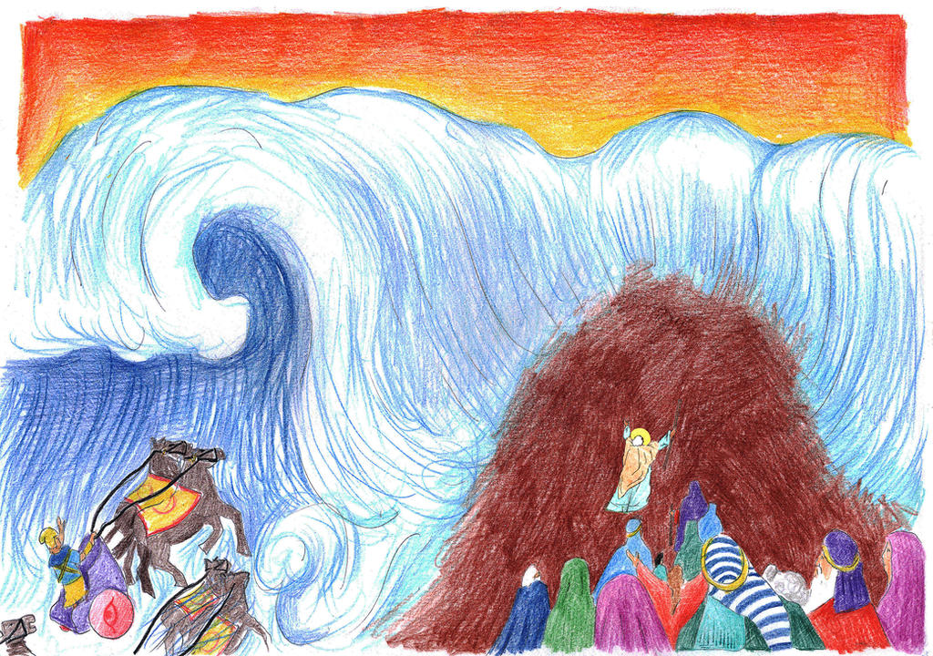 Exodus 14:26-28 (The Sea Falls Upon the Pharaoh) by Parastos