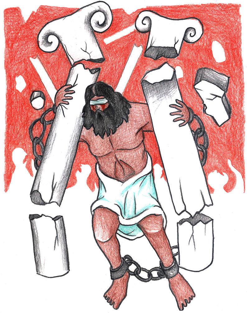 Judges 16:28-30 (Death of Samson) by Parastos