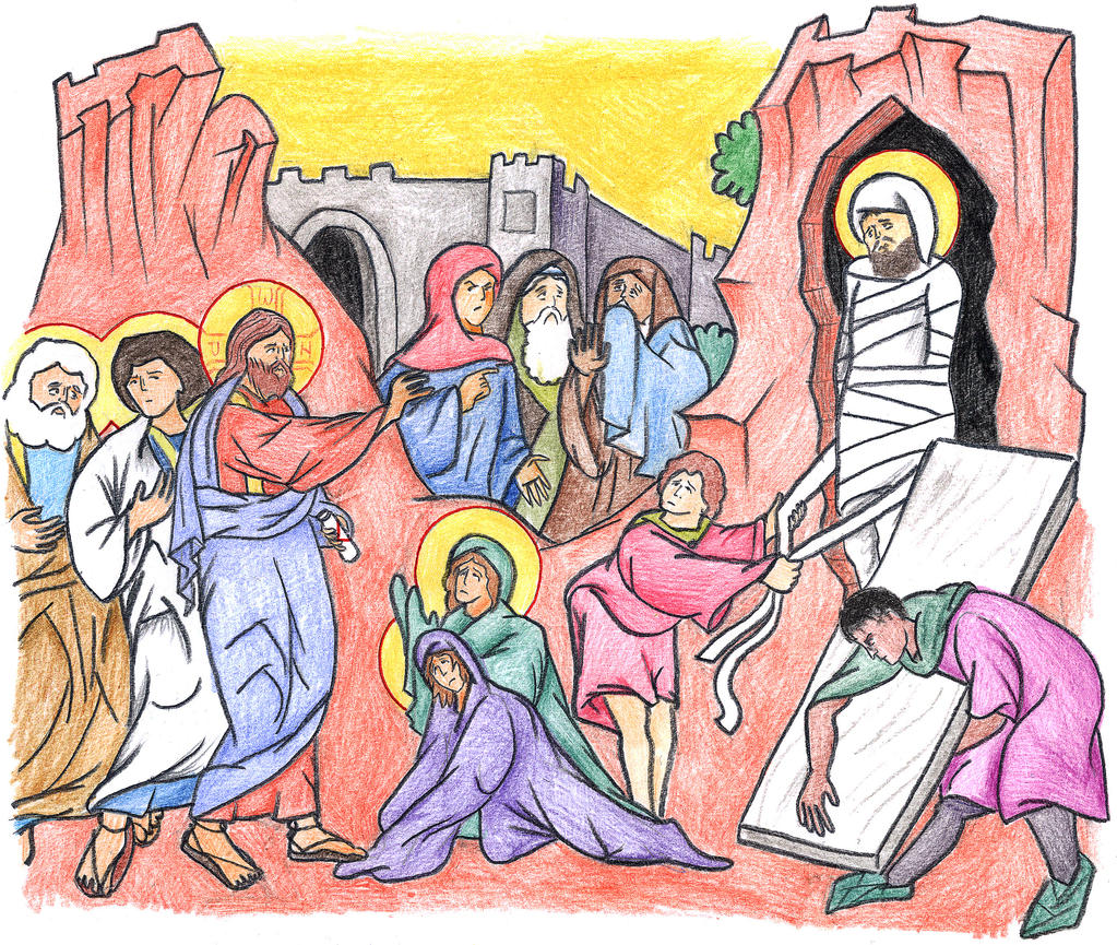 John 11:38-44 (Resurrection of Lazarus) by Parastos