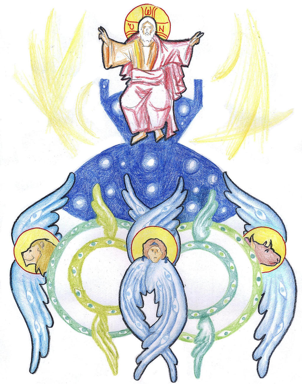 Ezekiel 1:22-28 (The Man on the Throne) by Parastos