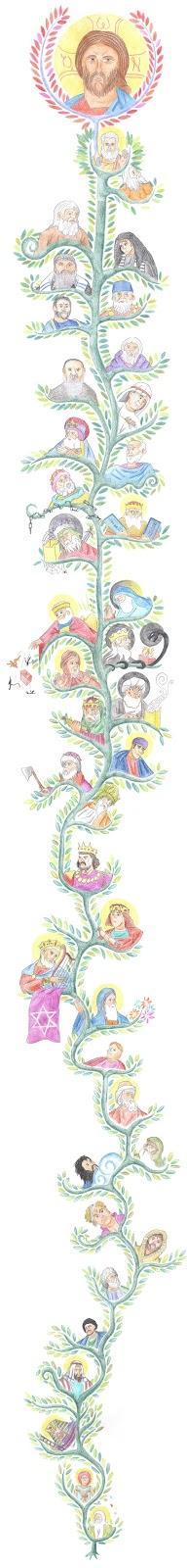 Matthew 1:17 (Tree of Jesse / Genealogy of Christ) by Parastos