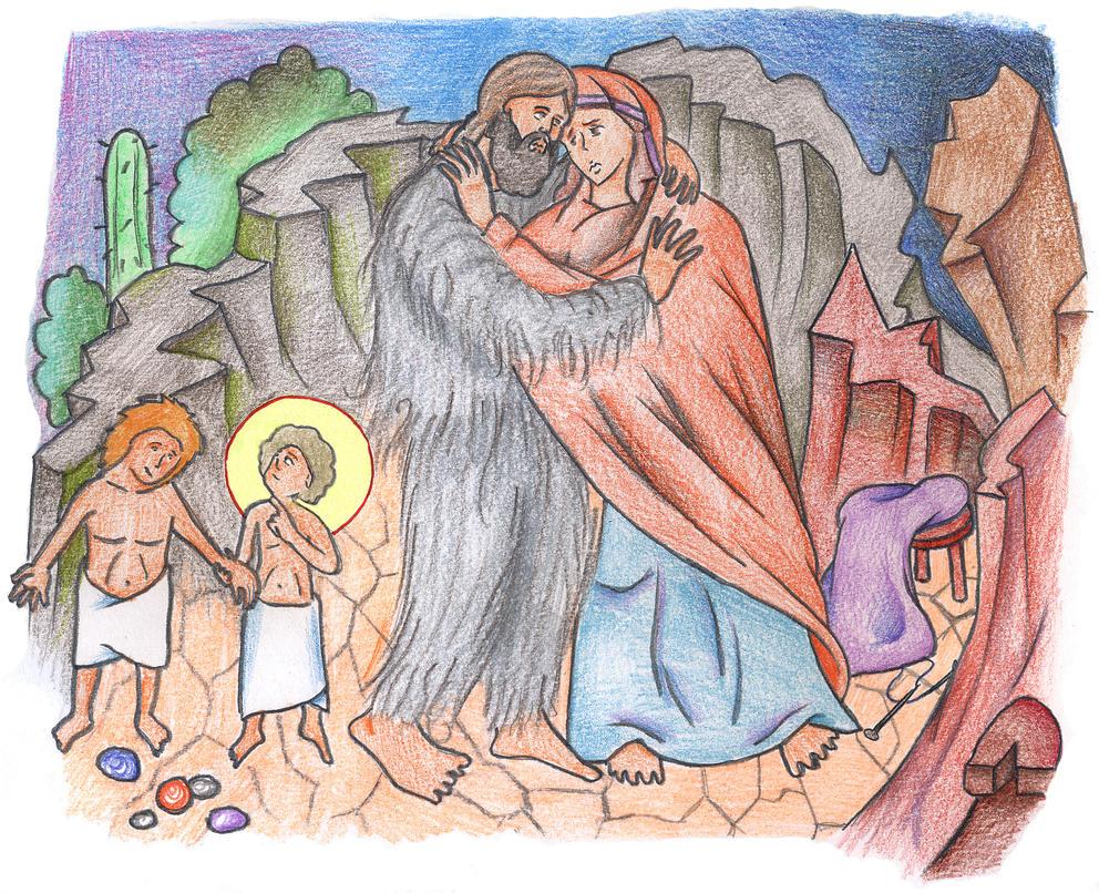 Genesis 4:1-2 by Parastos