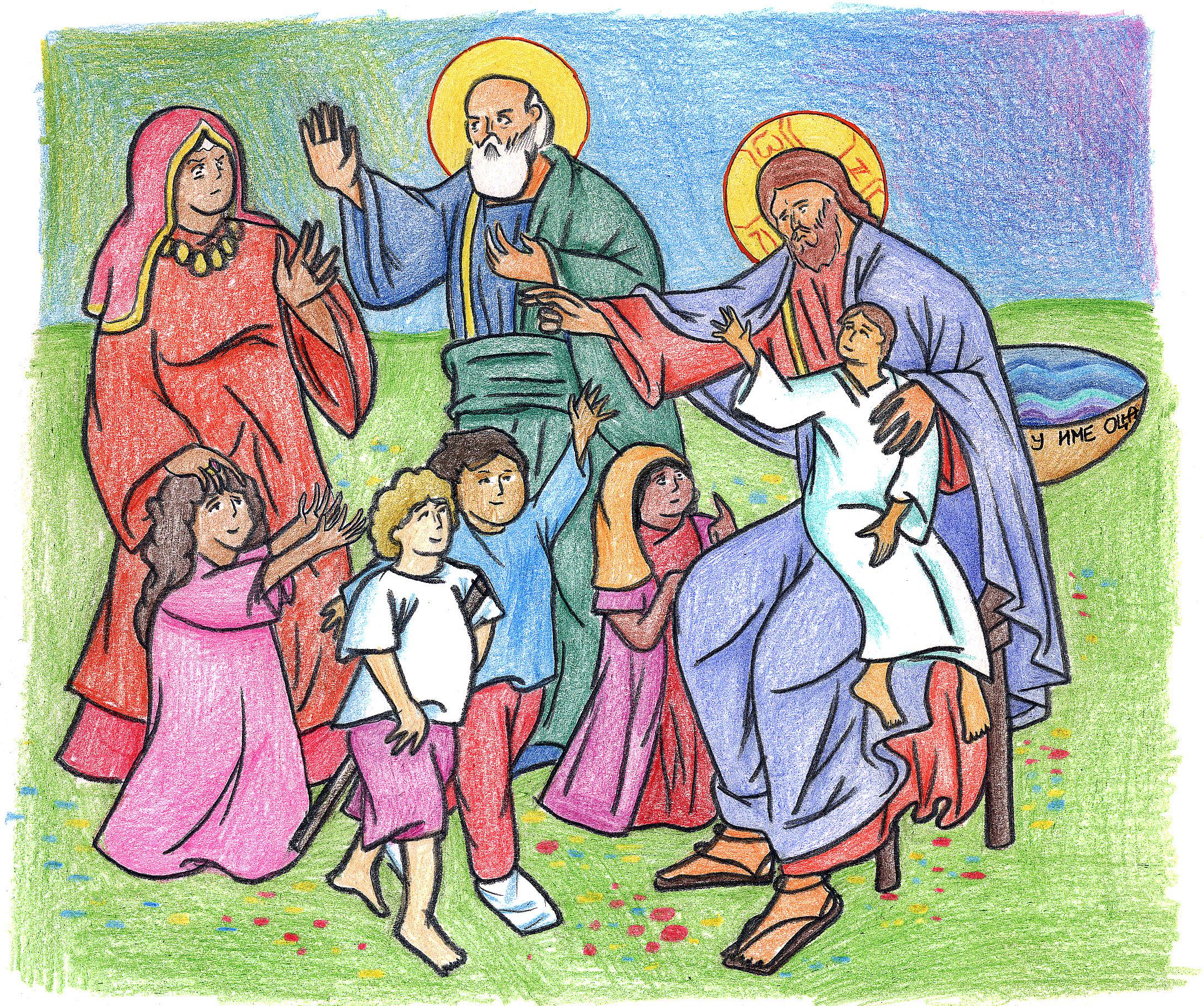Matthew 19:13-15 by Parastos