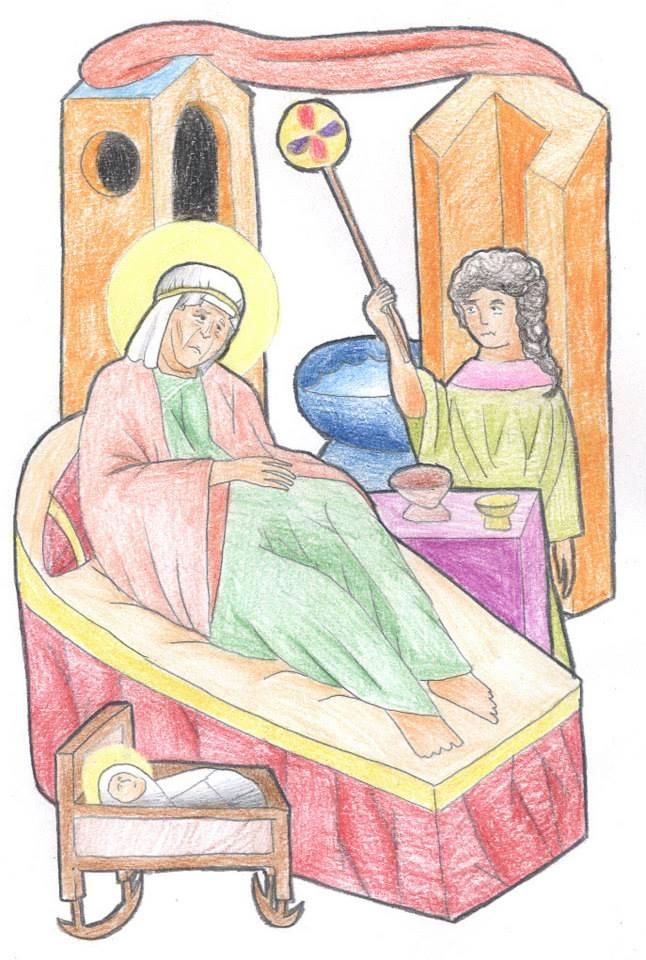 Luke 1:57-58 by Parastos