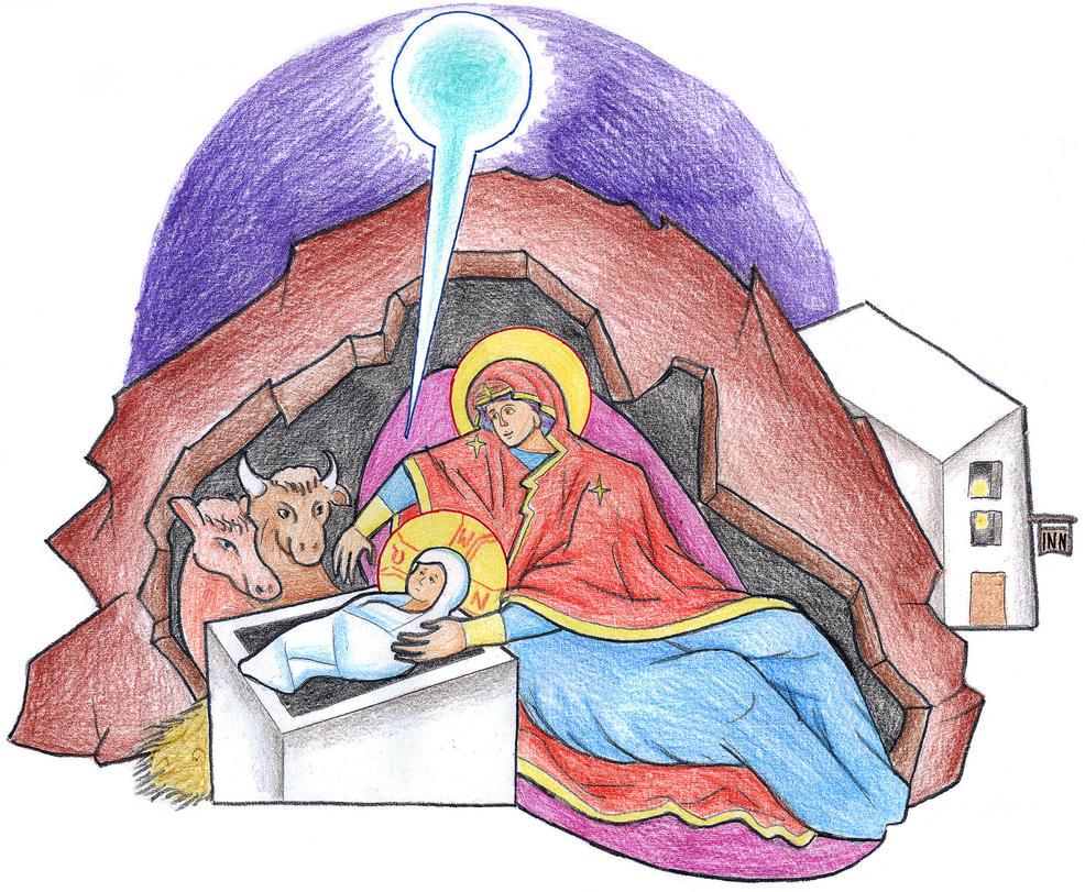 Luke 2:6-7 by Parastos