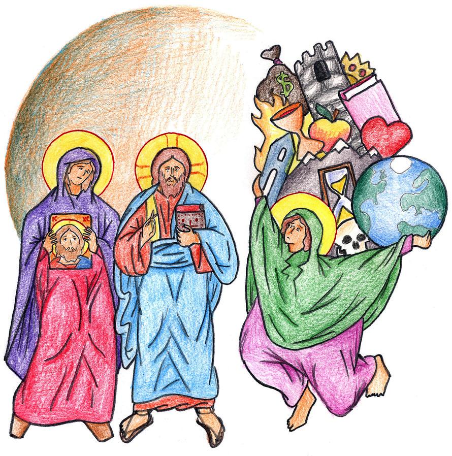 Luke 10:41-42 by Parastos