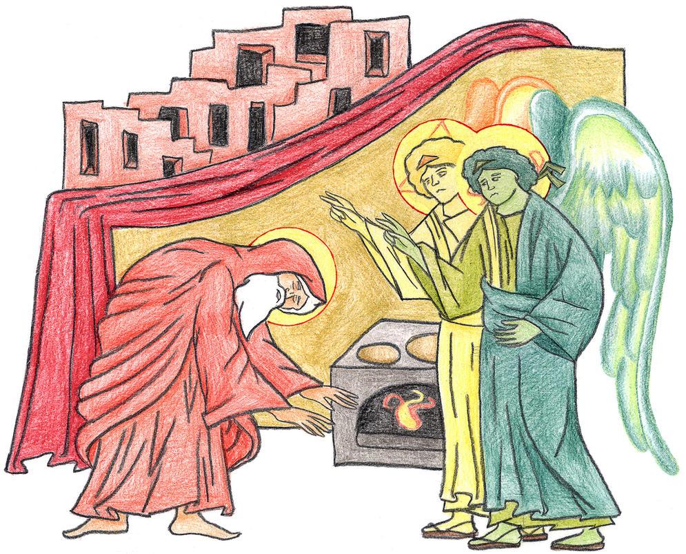 Genesis 19:1-3 by Parastos