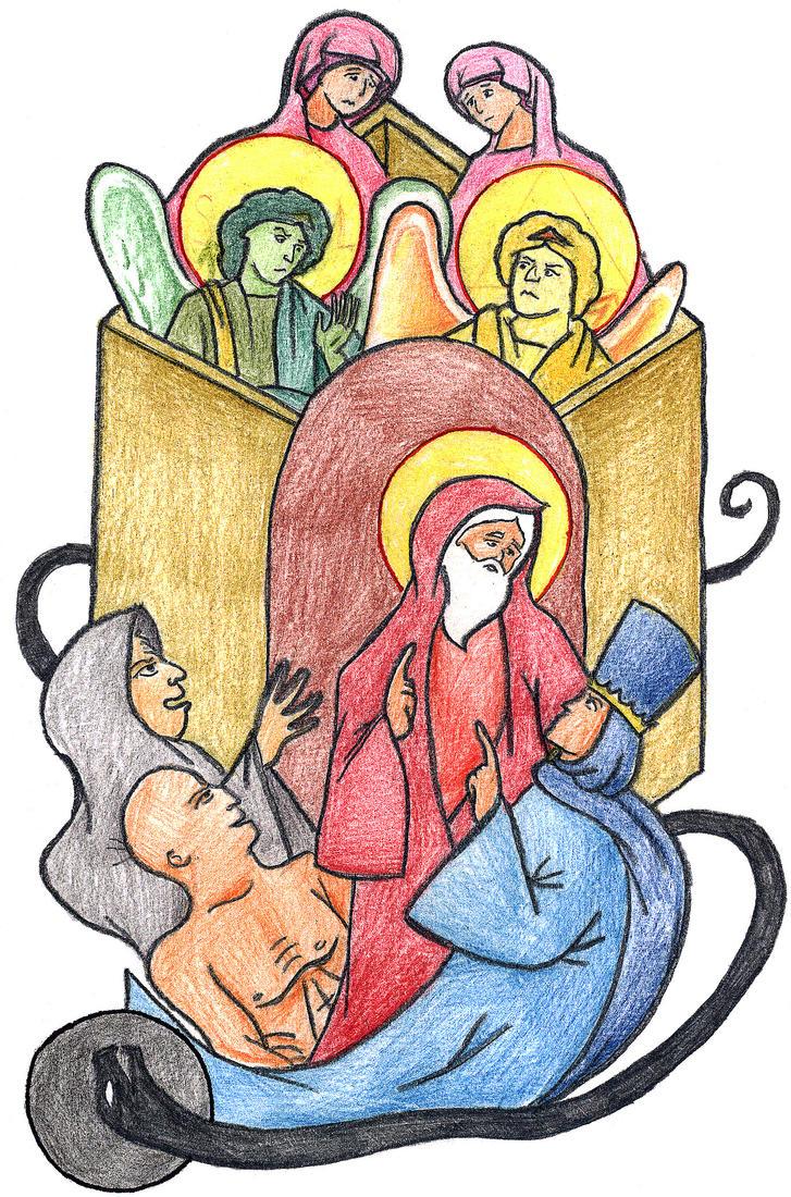 Genesis 19:4-8 by Parastos