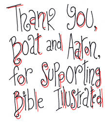 Thank You Note for Boat and Aaron