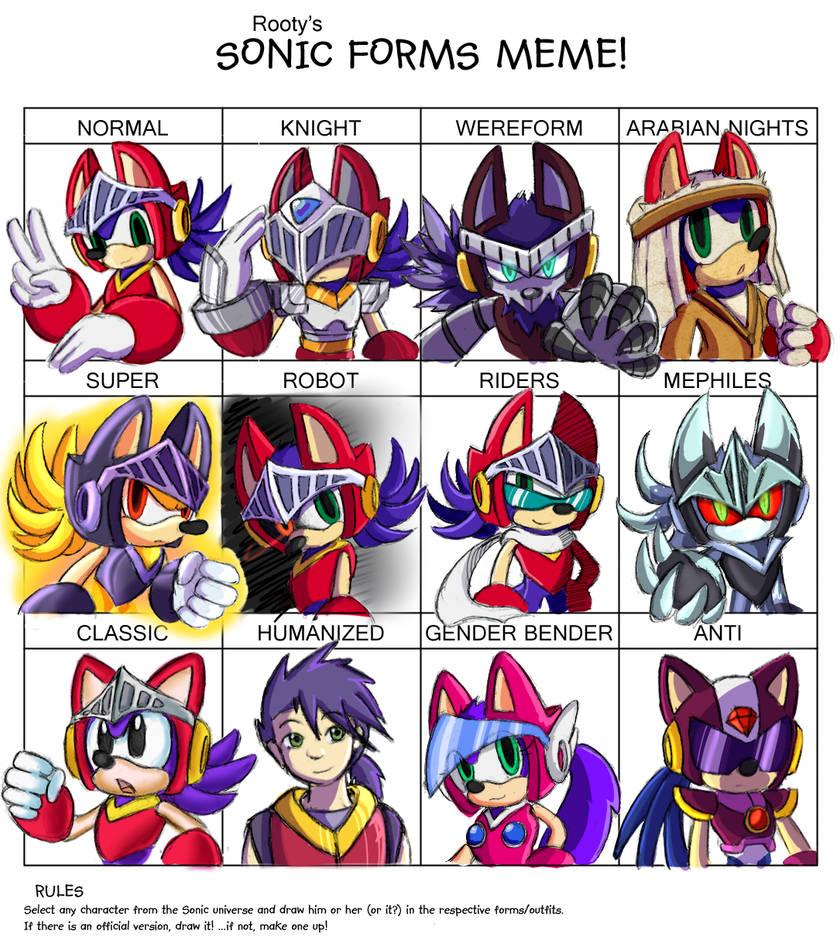 Sonic Forms Meme - Quattuor (REDO)
