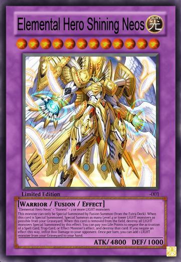 Elemental Hero Shining Neos By Deathchaosgreymon On Deviantart