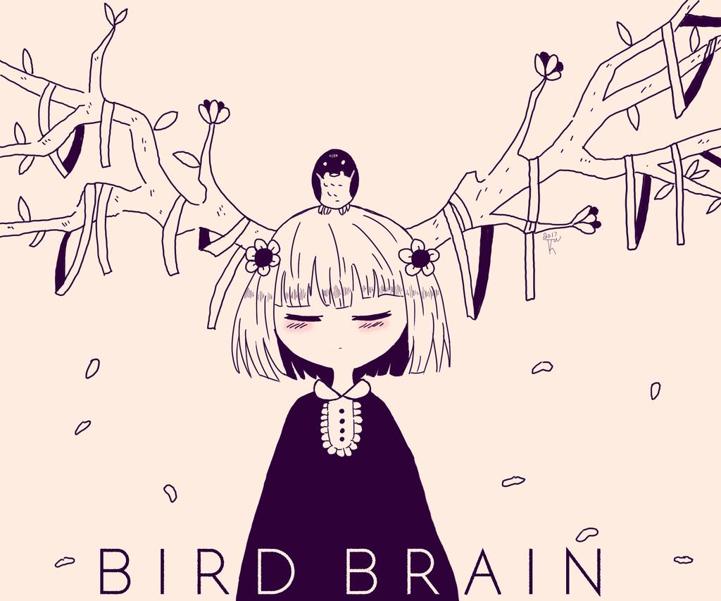 Bird Brain by KayJayDrawsArt