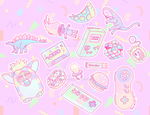 Retro Stickers