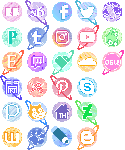 Pastel Planet Buttons