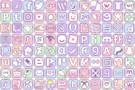 Simple Pastel Social Media Buttons