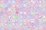 Simple Pastel Social Media Buttons