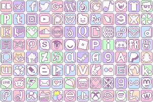 Pastel Cute Roblox Icon Blue Simple Pastel Social Media Buttons By King Lulu Deer On Deviantart