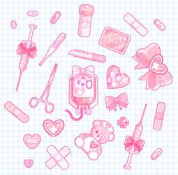 Sickly Sweet Stickers by King-Lulu-Deer