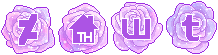 [$] Galaxy Rose Social Buttons [NF2U] by King-Lulu-Deer
