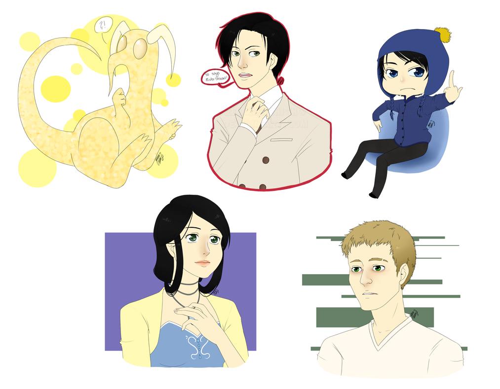Some characters by ReachFarHigh