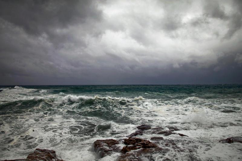 Stormy sea by koko-stock