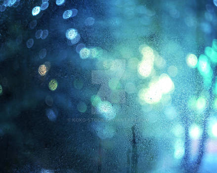 Blue Bokeh window texture stock