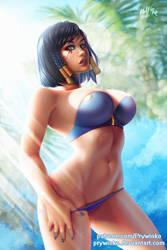 Beach Queen: Pharah (vol.4) by Prywinko