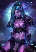 Tyrande Dark Priestess by Prywinko