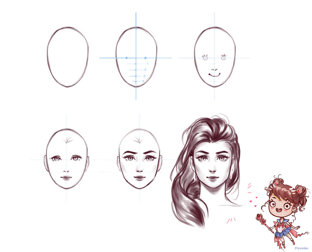 Tutorial face 3 by Prywinko