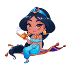 Jasmine (chibi sticker)