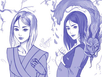 Sketch Mulan by Prywinko