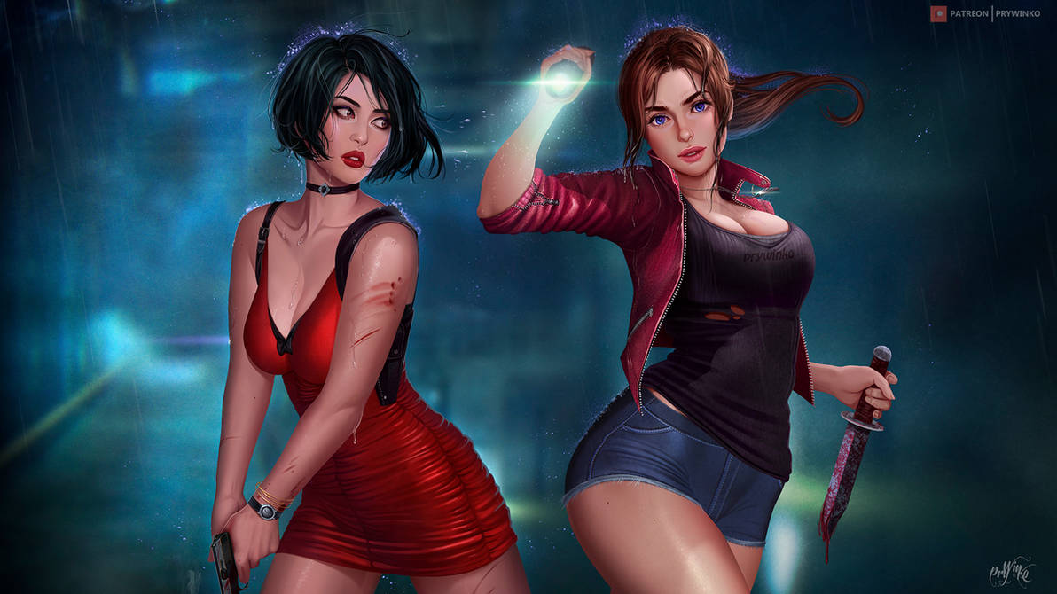 Ada Wong + Claire Redfield by Prywinko