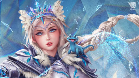 Wallpaper Knight Elsa