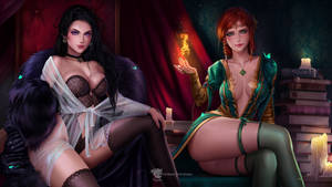 Wallpaper Triss and Yennefer