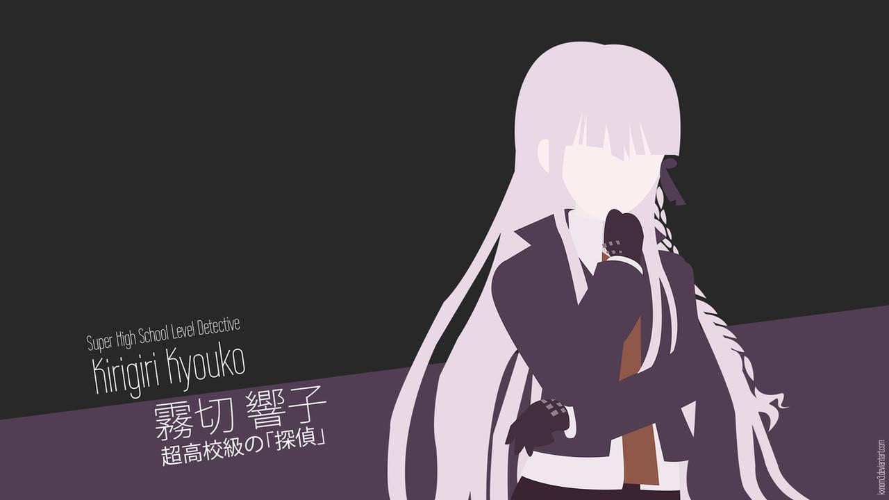 kirigiri kyouko wallpaper by kxnom3 on deviantart