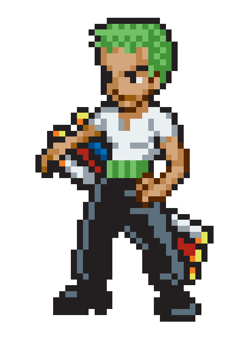 pixel art zoro