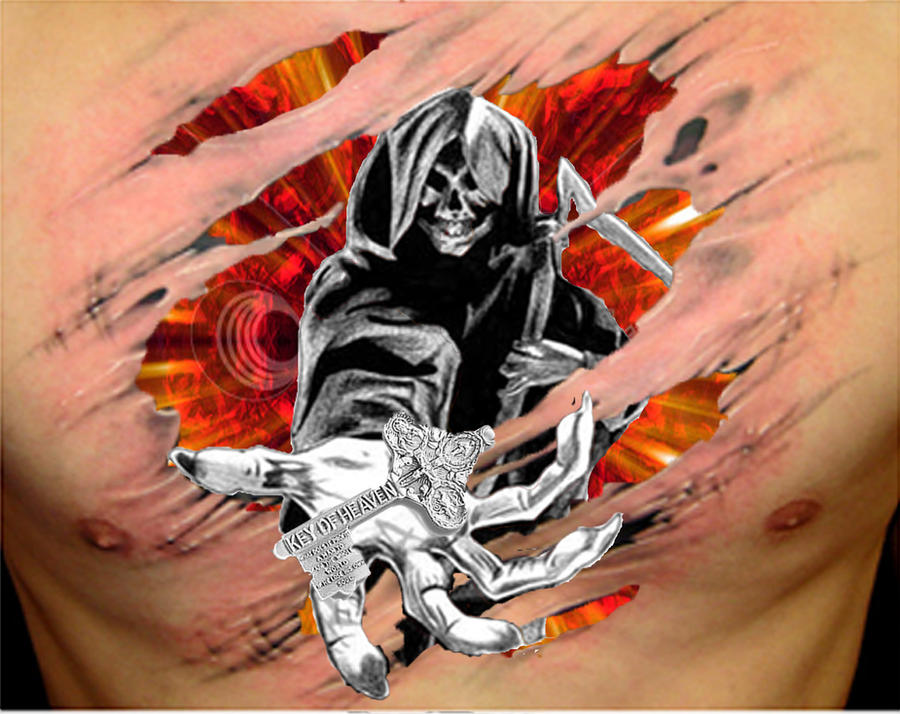 quick photoshop reaper tattoo by ~rockin-out-loud on deviantART