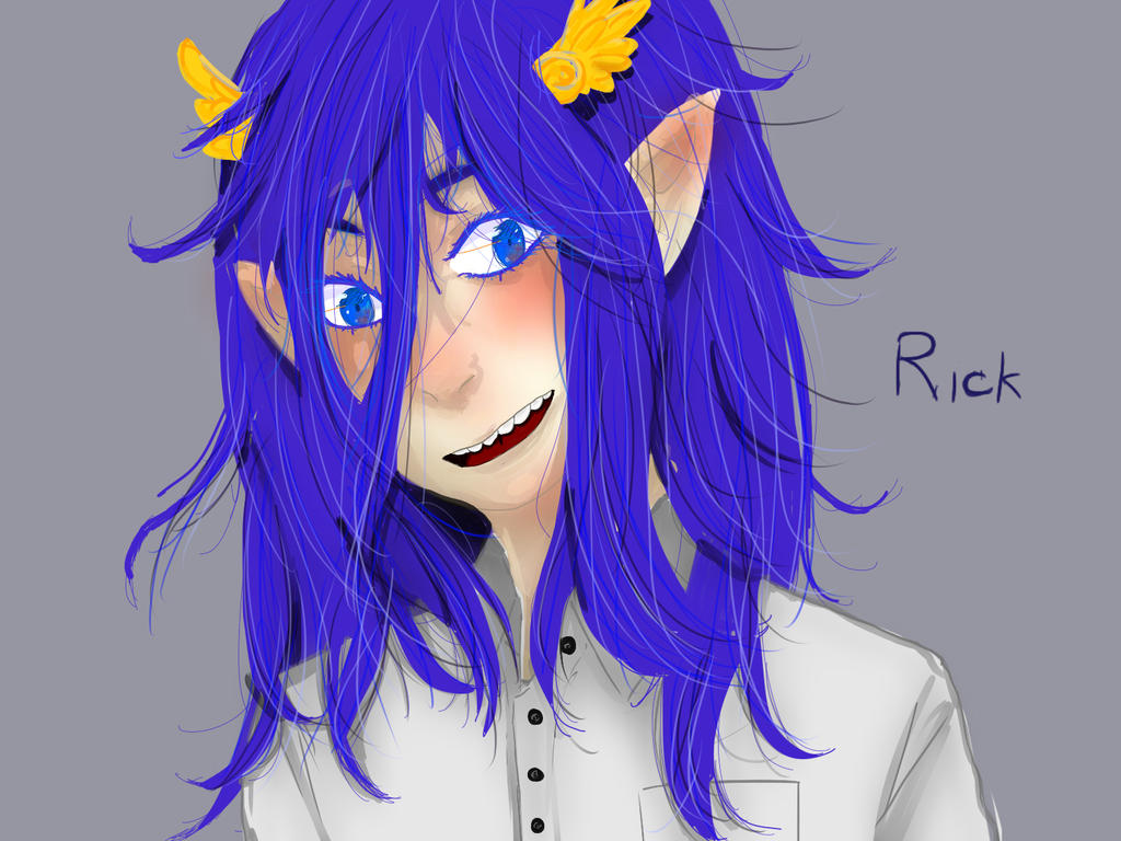 art trade with Inui-Purrl: RICK by CiwiArt